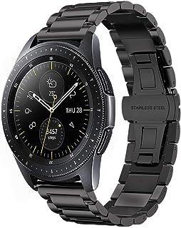 iBazal 20mm 22mm Watch Bands Straps Qucik Release Leather Metal Wristbands Bracelet for Gear/Galaxy Watch, Huawei, Pebble, Garmin, Ticwatch, Fossil, Moto, LG, Asus, Nokia, Mens Womens Watch