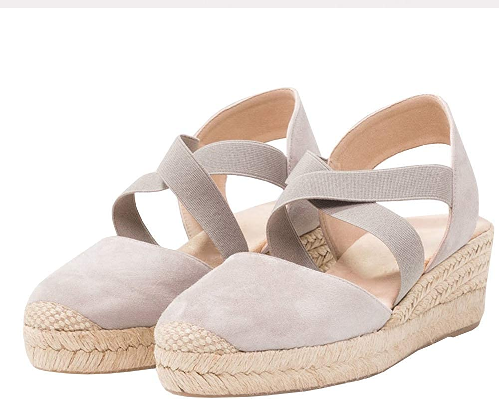 PiePieBuy Womens Espadrille Platform Wedge Sandals Special Campaign Sale special price Toe Closed Mi