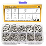 Sutemribor 304 Stainless Steel Spring Lock Washer Assortment Set 600 Pieces, 9 Sizes - M2 ...