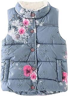 066e5a0422ece Koly Vêtements Gilet sans Manches Enfant Bébé Garçon Fille, Veste Florales  Thick Tops Automne Waistcoat