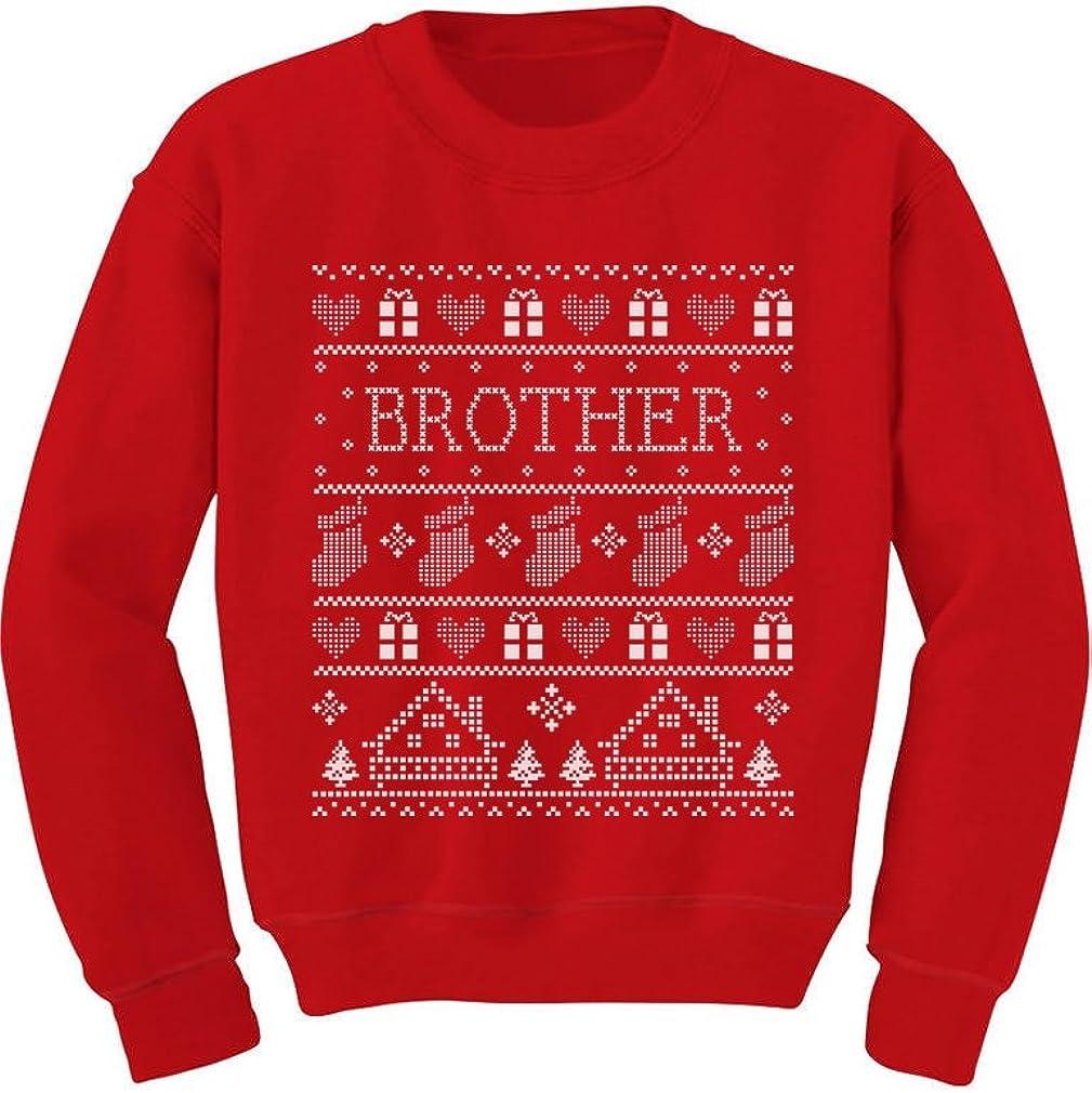 TeeStars - Brother Ugly Christmas Sweater Funny Toddler/Kids Sweatshirts