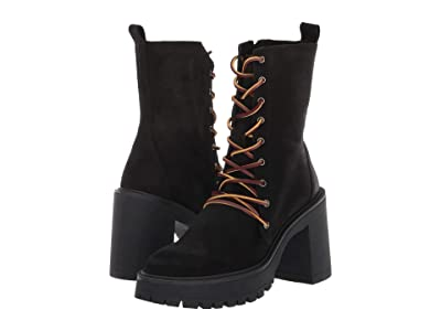 Free People Dylan Lace-Up Boot (Black) Women