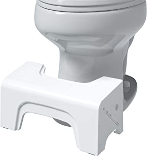 Squatty Potty Fold N Stow Compact Foldable Toilet Stool, White, 7