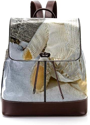 Indimization Teddyb Rucksack aus Leder, modische Reisetasche, Studentententasche für Jungen und mädchen, für 27 x 12,3 x 32 cm