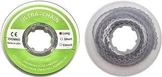 Wecando Dental Orthodontic Elastic Chain Power Chains Brace Orthodontic Spool Elastic Rubber Band (Long, Gray)