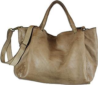 BZNA Bag Diana taupe Italy Designer Damen Handtasche Schultertasche Tasche Leder Shopper Neu