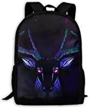 KIENGG Low Poly Deer Unisex Adult Custom Backpack,School Leisure Sports Book Bags,Durable Oxford Outdoor College Laptop Computer Shoulder Bags,Lightweight Travel Daypacks