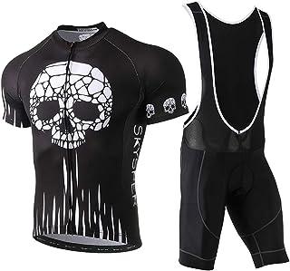e68b7049bf SKYSPER Ciclismo Maillot Hombres Jersey + Pantalones Cortos Culote Mangas  Cortas de Ciclismo Conjunto de Ropa