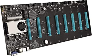 BTC-S37 Mining Accessories Motherboard CPU Set 8 PCIE 16X Slots Low Power Consume Sound Card for Bitcoin Mining
