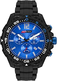 Isobrite ISO422 Valor Series Chronograph T100 Blue Dial Tritium Watch with NBR Band