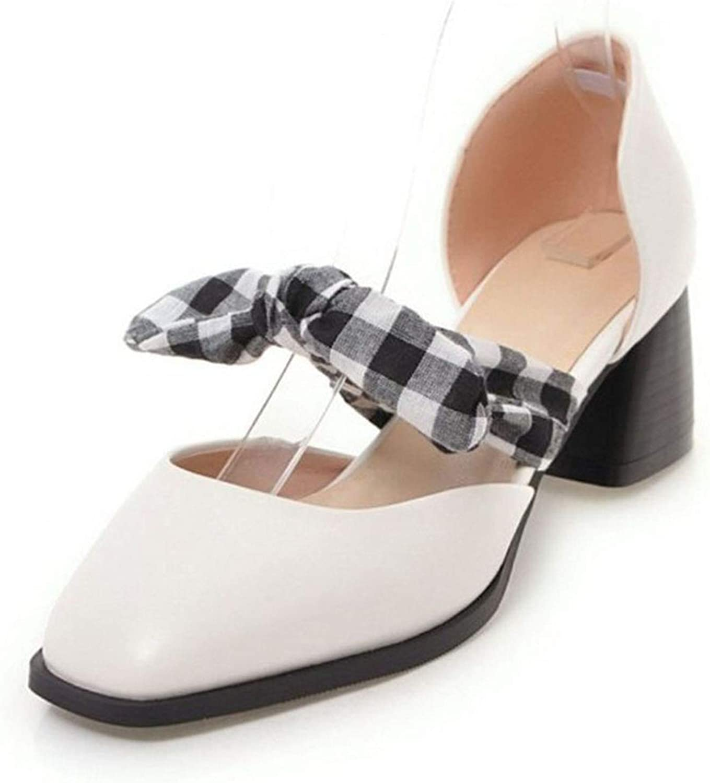 bluee-shore Retro Women High Heel Sandals Bowtie Toe Thick Heel Sandals Summer shoes Lady Footwear