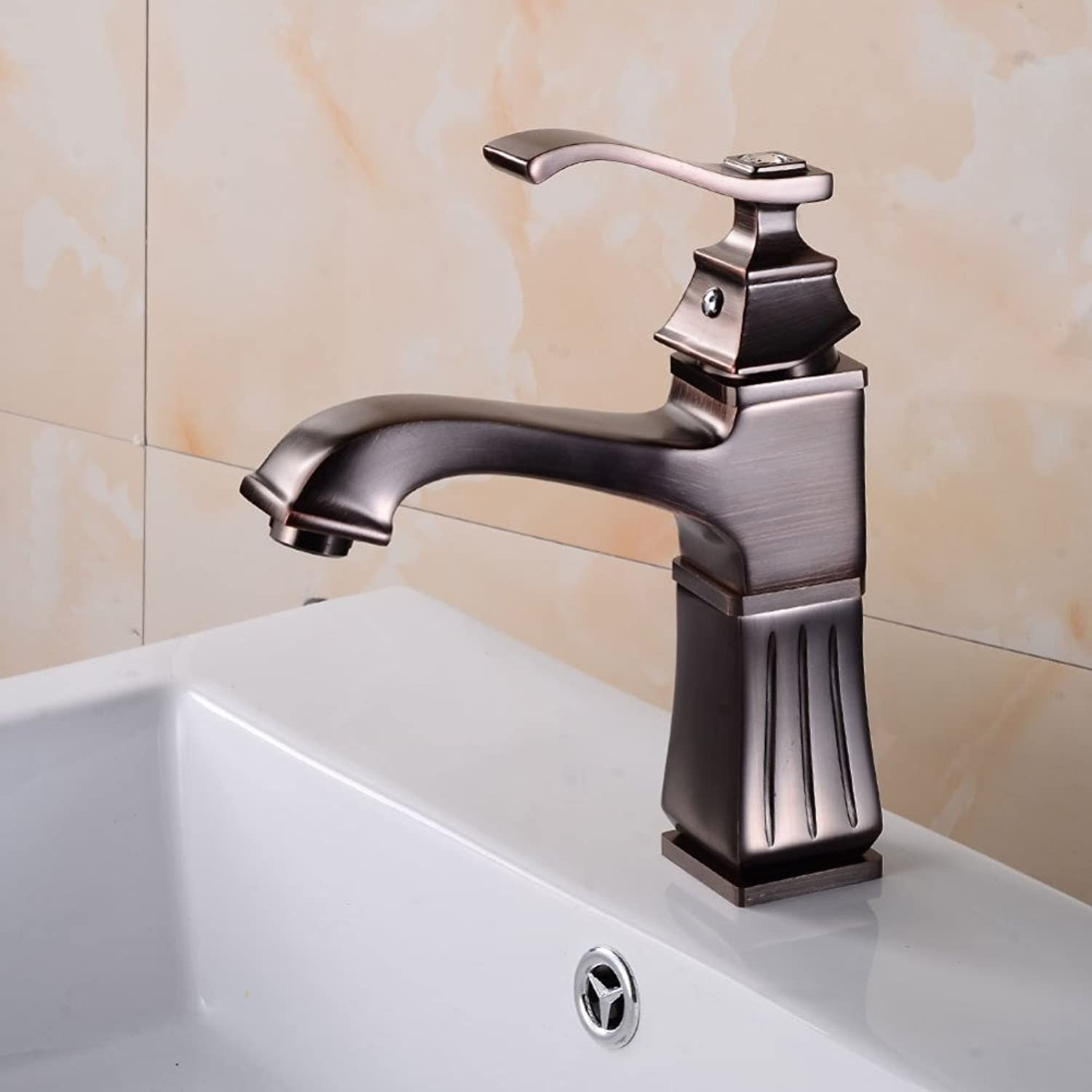 ZHHFaucet European redating Faucet Above Counter Basin Faucet Washbasin Faucet Retro Wash Basin Faucet Kitchen Faucet Copper Waterfall Faucet Hot and Cold Faucet Spring redary Faucet