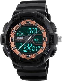 SKMEI Watch Men Dual Time Digital Sports Wristwatch LED Analog Quartz Watches