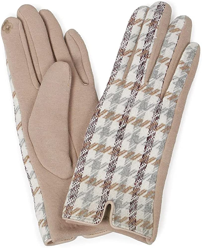 ScarvesMe Women's Sassy Plaid Check Winter Warm Soft Touch Screen Gloves