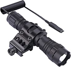 Feyachi FL11-MB Tactical Flashlight 1200 Lumen Matte Black LED Weapon Light with Picatinny Mount, Rechargeable Batteries and Pressure Switch Included