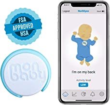 MonBaby (E) Baby Monitor with Breathing, Rollover Movement Sensors: Track Baby's Breathing, Body Movement. Low Energy Bluetooth Connectivity.