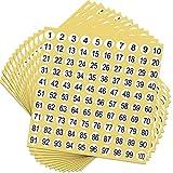 Yaomiao 50 Fogli Numero Adesivi 1 a 100 Adesivi Sticker Rotondo Numero Etichette Inventario Storage Organizzazione Sticker