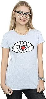 Disney Women's Mickey Mouse Heart Hands T-Shirt