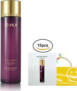 OHUI Age Recovery Anti-Wrinkle Skin Softener 150ml/5.07oz, Baby Collagen+ Gift:Age Recovery Essence 15pcs X 1ml
