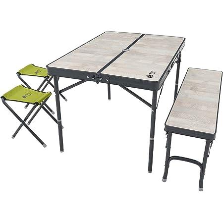 ロゴス(LOGOS) ROSY ファミリーベンチテーブルセット 73189057 ホワイト