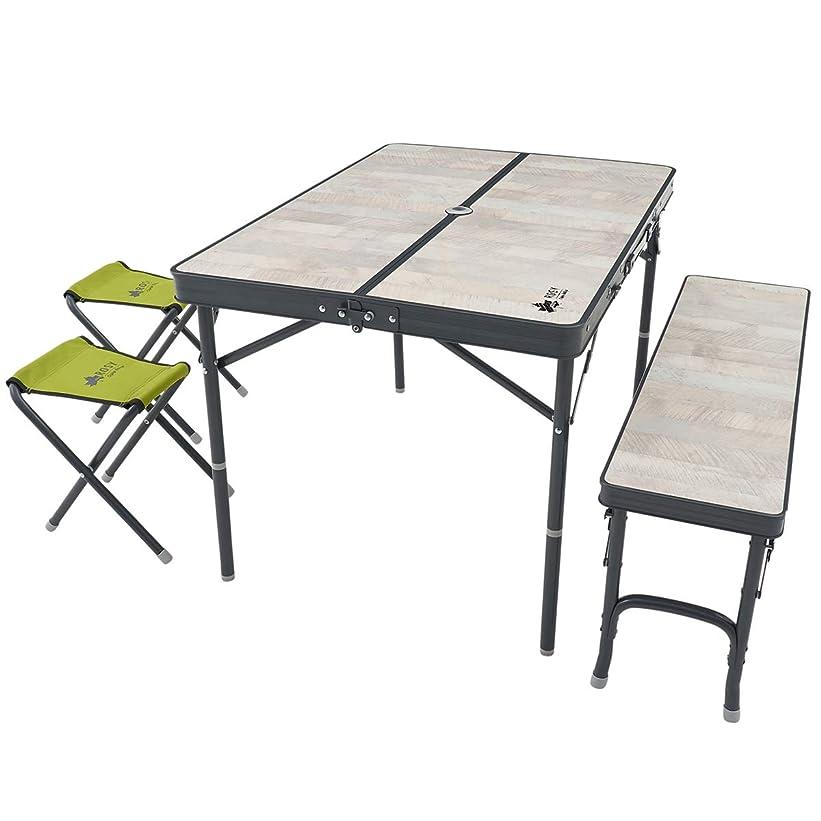 習慣策定する未払いロゴス(LOGOS) ROSY ファミリーベンチテーブルセット 73189057