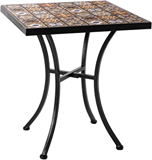 Charles Bentley Conjunto de 3 piezas de metal Bistro Mesa de jardín de 2 sillas 5 Colores