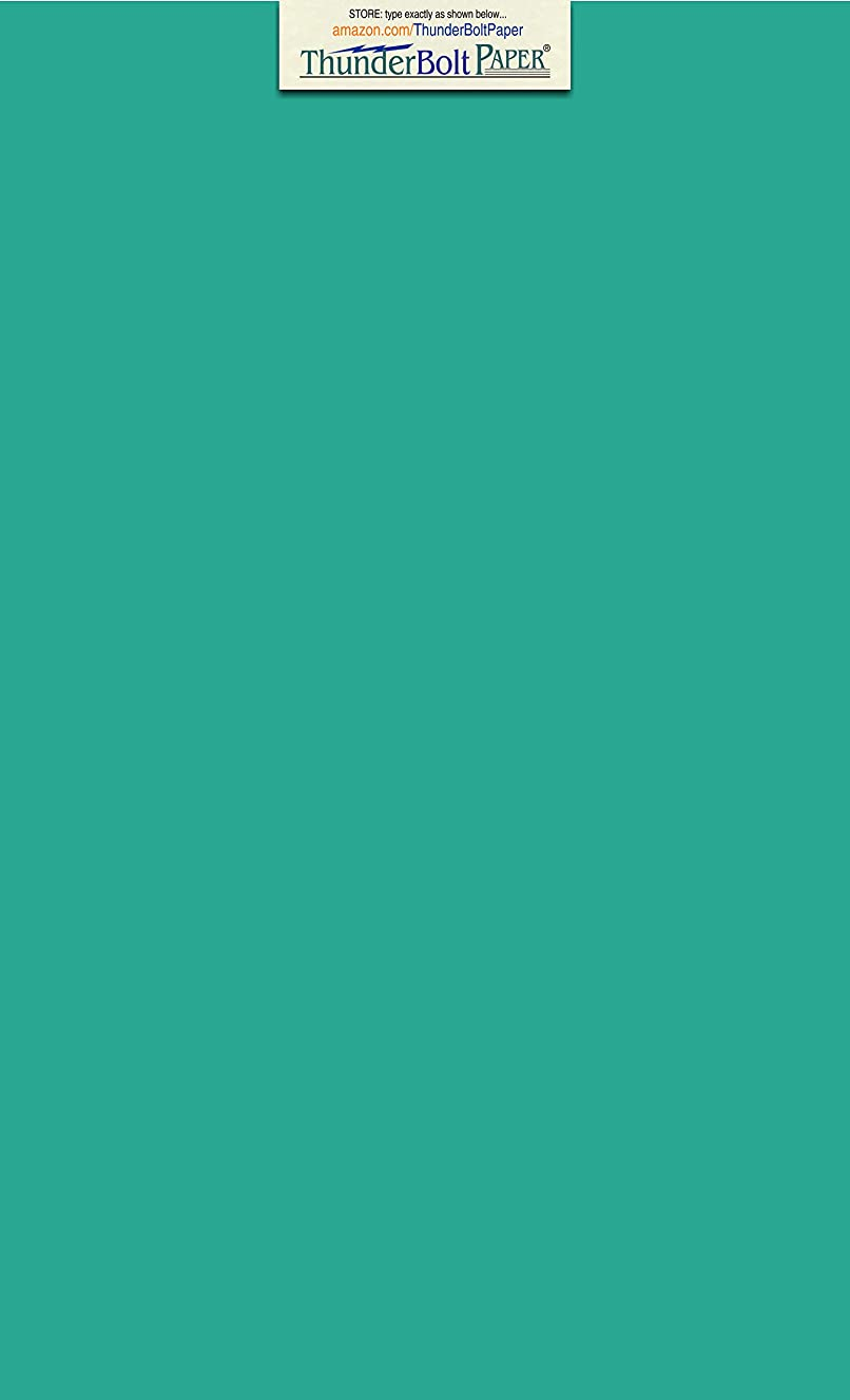 25 Bright Teal 65lb Cover|Card Paper - 8.5 X 14 Inches Legal & Menu Size - 65 lb/Pound Light Weight Cardstock - Quality Printable Smooth Surface for Bright Colorful Results