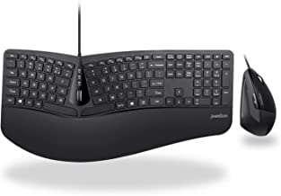 Perixx Periduo-505, Wired USB Ergonomic Split Keyboard and Vertical Mouse Combo with..