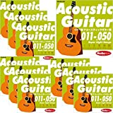 "Ikebe Original Acoustic Guitar Strings ""イケベ弦 アコースティックギター用 011-050"" [Super Light Gauge/IKB-AGS-1150]×10セット"