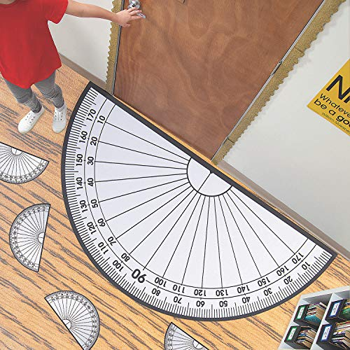 Fun Express Giant Protractor Cling & Class Set - 42 Pieces - Educational and Learning Activities for Kids
