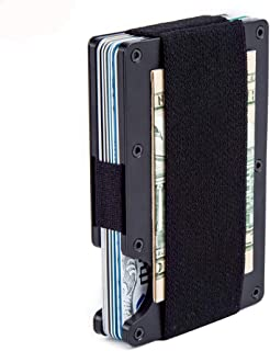 Minimalist Aluminum Wallet, Slim Money Clip Metal Wallet RFID Front Pocket Wallet