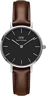Daniel Wellington Petite Bristol Silver Watch, 28mm, Leather, for Men and Women