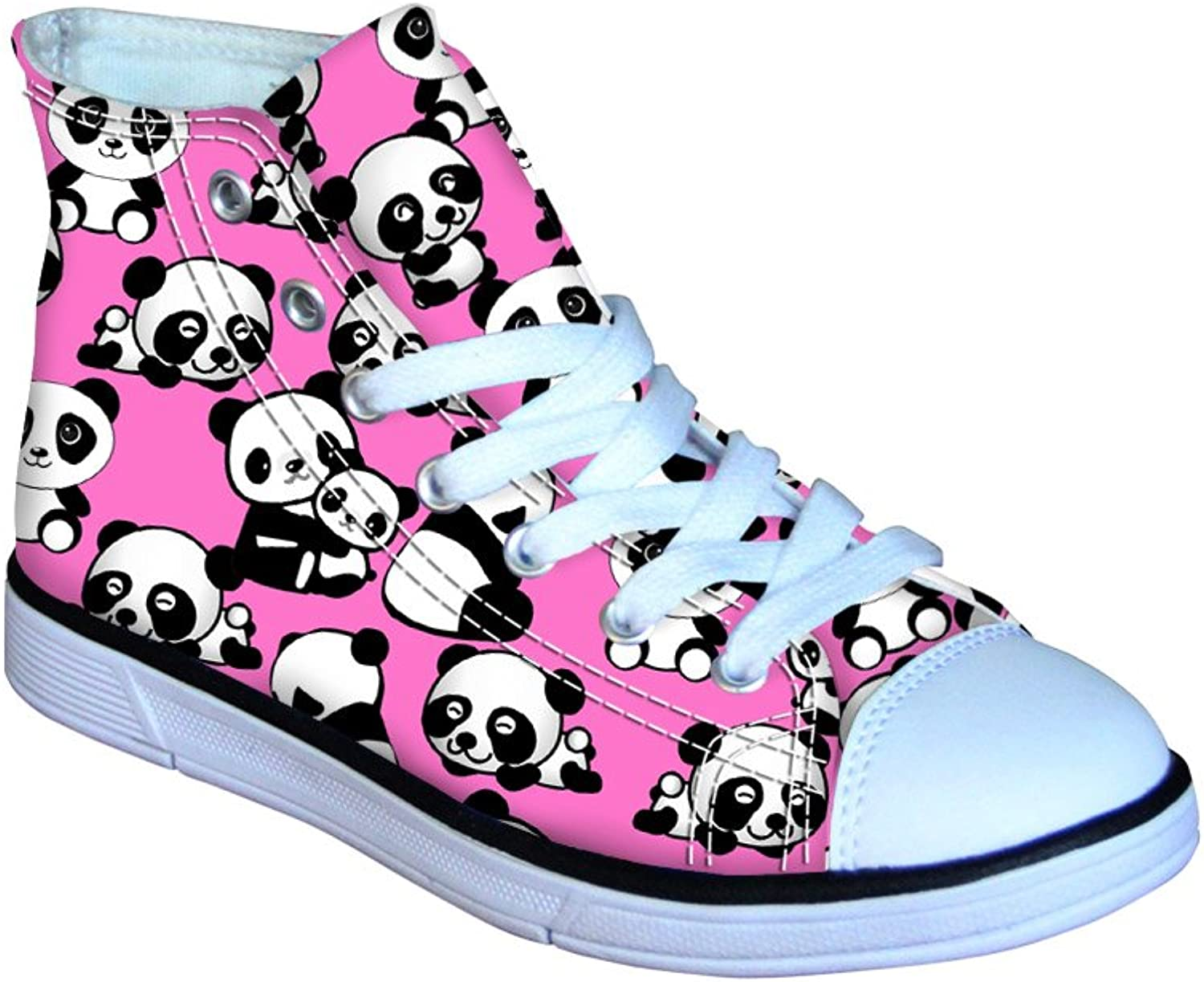HUGS IDEA Cool Animals Print Kids Sneaker High Top Canvas shoes for Girls Boys