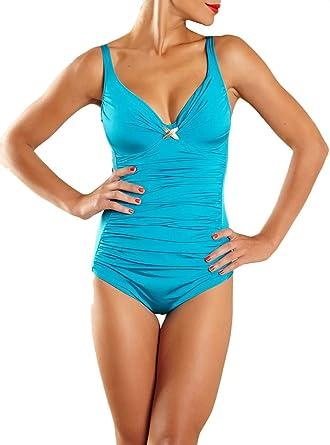 Amazon.com: Chantelle Gazelle Swimsuit 1717, Azores Blue, 34D ...