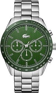 Lacoste Men's Boston Quartz Watch with Stainless Steel Strap, Silver, 20 (Model: 2011080)