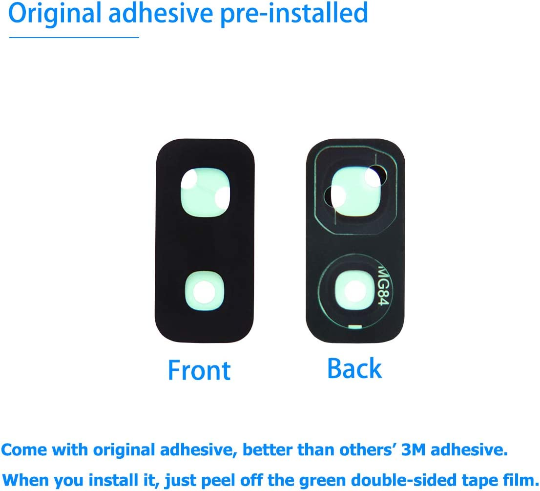 Vimour 2 Pieces OEM Rear Camera Glass Lens Replacement for Samsung Galaxy S9+ Plus (All Carriers) with Pre-Installed Adhesive and Repair Toolkit