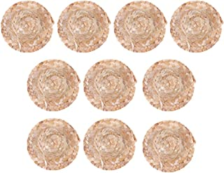 SUPVOX 10pcs Mini Straw Hat Handmade Doll Straw Hat Decorative Small Straw Hats for DIY Craft Jewelry Garment Material Christmas Birthday Party Table Centerpiece Decoration