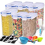 Cereal Container, EAGMAK Airtight Dry Food Storage Containers, BPA Free Large Kitchen Pantry Storage...