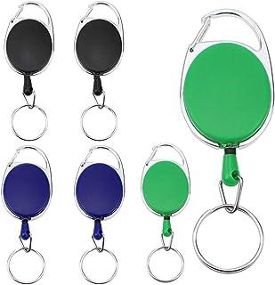 Orso 5 Pezzi Carino Portachiavi Estensibile Titolari di Carta Ritrattabili per Ufficio e Exhibition per ID Portabiglietti Badge ASFINS Porta Badge Retrattile