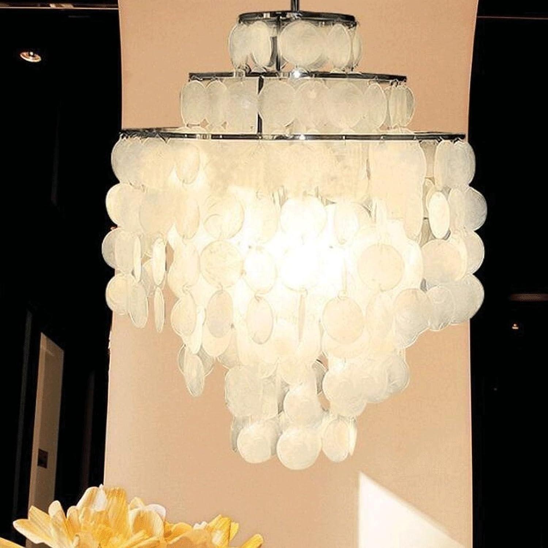 ZLR Moderne Simple voitureillons à Vent Shell Creative Personnalité Lustres Salon Salle à Manger Lampe Chambre étude Bar Shell Lampe E27 (Couleur   1 pcs, taille   26cm)