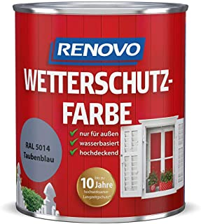 Renovo Wetterschutzfarbe 0,75L taubenblau RAL 5014