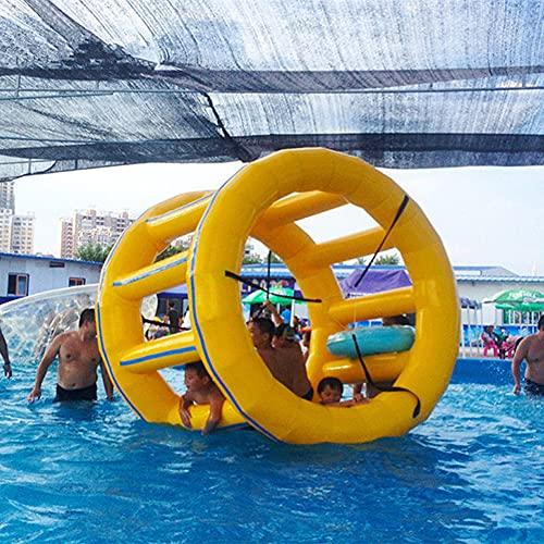 LHYCM Flotador De Rodillo Inflable, Bola De Ejercicio para Caminar sobre El Agua, Rueda De Agua, Juguete De Rodillo para Piscina para Niños Y Adultos Al Aire Libre,5.9ft