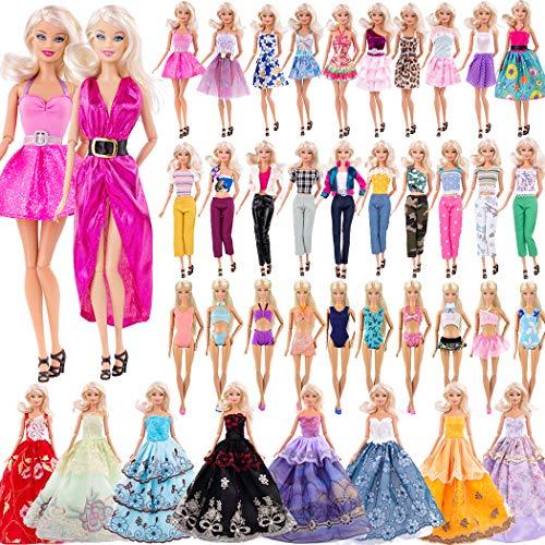 ebuddy Zu den Mini-Puppenkleidern gehören 3-teilige Langkleider im zufälligen Stil, 3-teilige Bikinis, 3-teilige Outfits und 3-teilige Modekleider für 11,5-Zoll-Puppen
