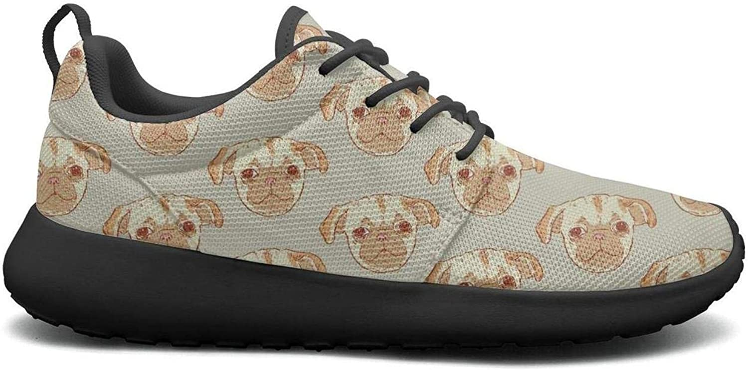 Gjsonmv Dog Illustration Puppy Animal Pattern mesh Lightweight shoes for Women Comfortable Sports Basketball Sneakers shoes