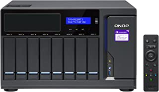 QNAP TVS-882BRT3-i5-16G-US Ultra-High Speed 8 Bay Thunderbolt 3 NAS with 1 Optical Drive Expansion Slot.