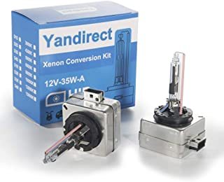 Yandirect D1S 6000K 35W Headlight Bulb Replacement Xenon HID Bulb-Pack of 2
