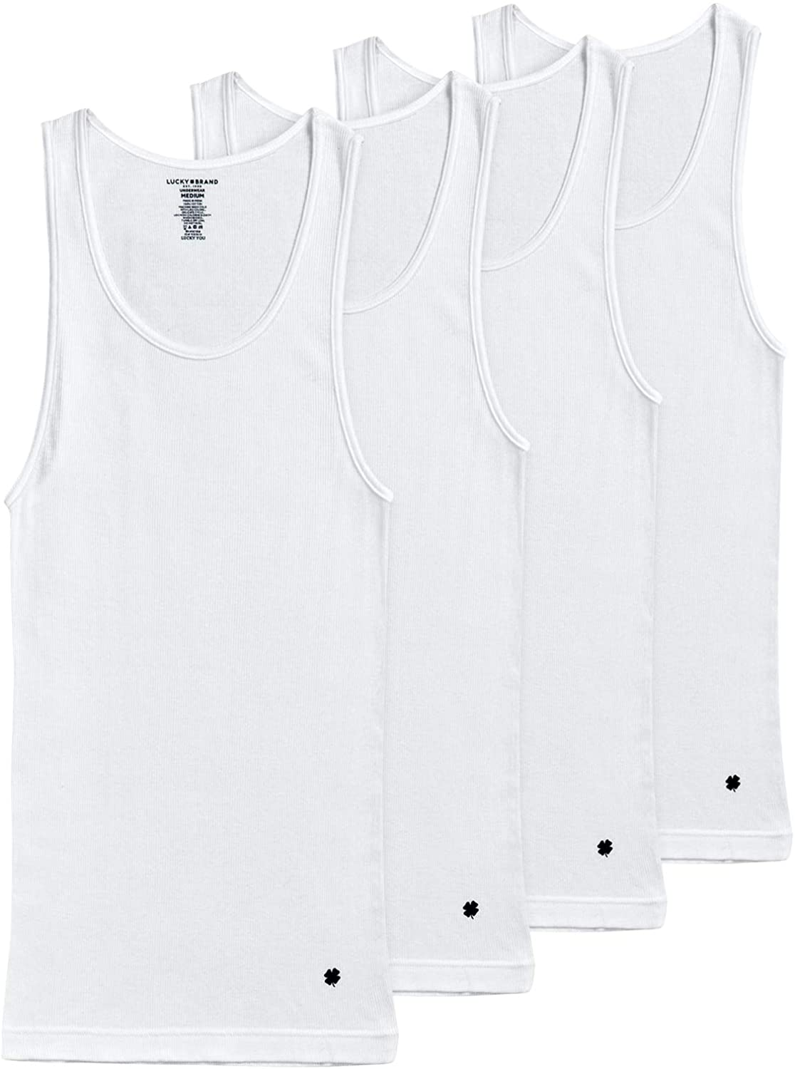 Lucky Brand Men's Limited price shop Classic A-Shirt Top Tank 4 Undershirt Pack