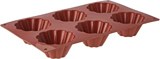 Silikomart Fluted Brioches Cake Mould, 79mm x 37mm, Terracotta