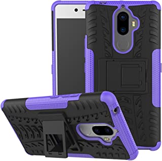 Case Lenovo K8 Note 360° Full Body PC 2 in 1[with Tempered Glass Screen Protector 2 pieces high quality] Shockproof Double Protection Phone Cover Protective Skin Case for Lenovo K8 Note (purple)