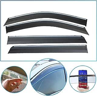 4 Pcs/Set Tape-On Outside-Mount Side Window Wind Deflectors Rain Guard for OPEL Regal 2009-2016 Front Rear Car Rooftop Visors Accessories & Body Parts